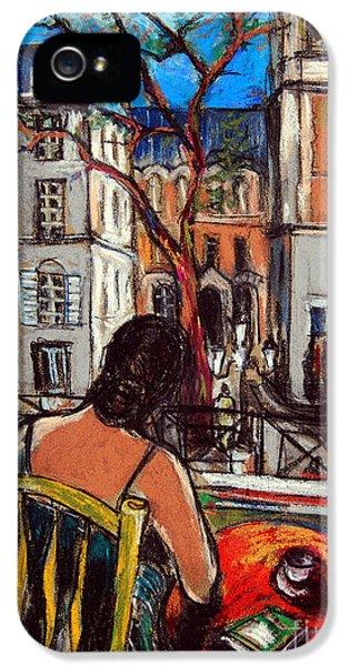 Woman At Window IPhone 5 / 5s Case by Mona Edulesco