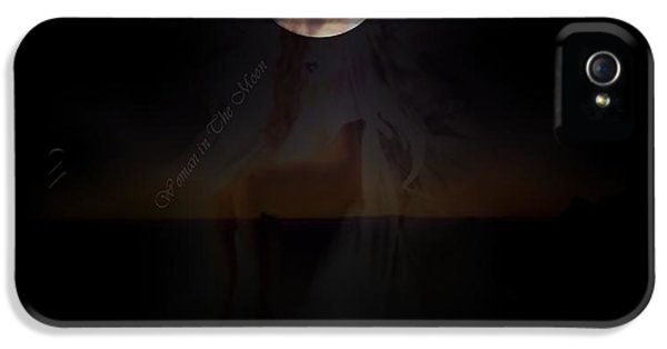 Lunacy iPhone 5 Cases - Woman in The Moon iPhone 5 Case by Diana  Nichols
