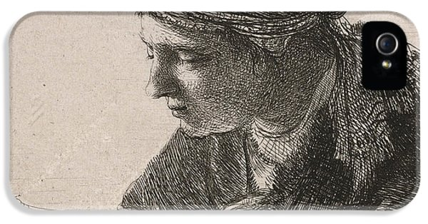 Wrapped iPhone 5 Cases - Woman Reading iPhone 5 Case by Rembrandt