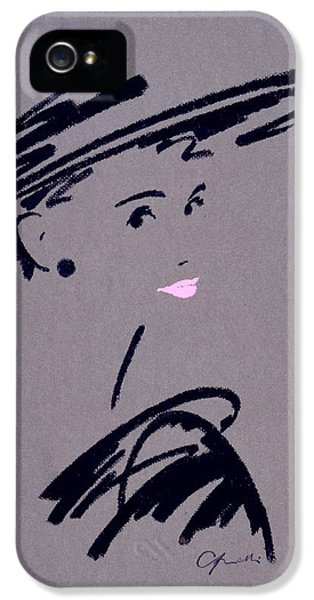 Glamorous iPhone 5 Cases - Womans Portrait iPhone 5 Case by Giannelli
