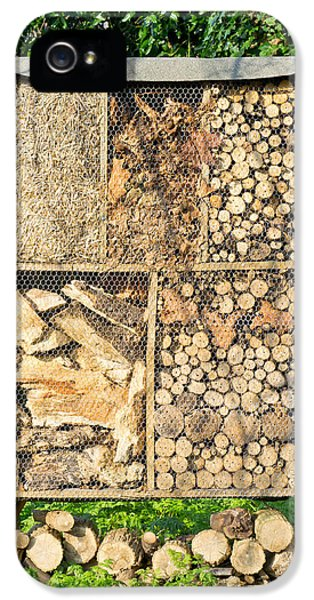 Firewood iPhone 5 Cases - Wood and straw storage iPhone 5 Case by Tom Gowanlock