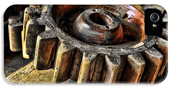 Cog iPhone 5 Cases - Wood Gears iPhone 5 Case by Olivier Le Queinec