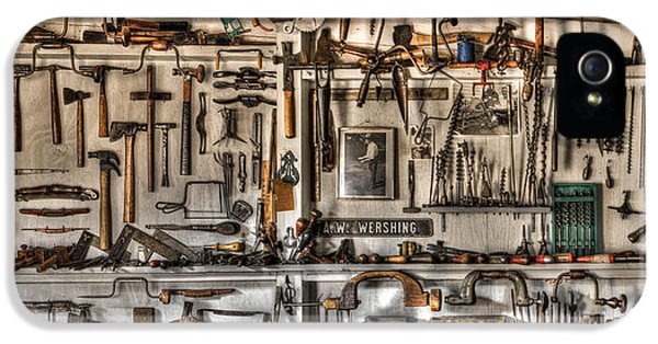 Workbench iPhone 5 Cases - Woodworking Tools iPhone 5 Case by Debra and Dave Vanderlaan