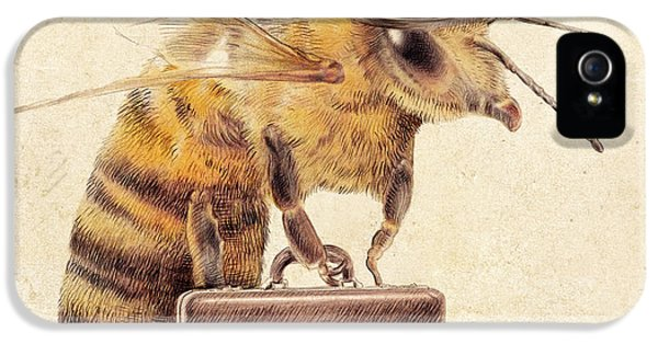 Bowler iPhone 5 Cases - Worker Bee iPhone 5 Case by Eric Fan