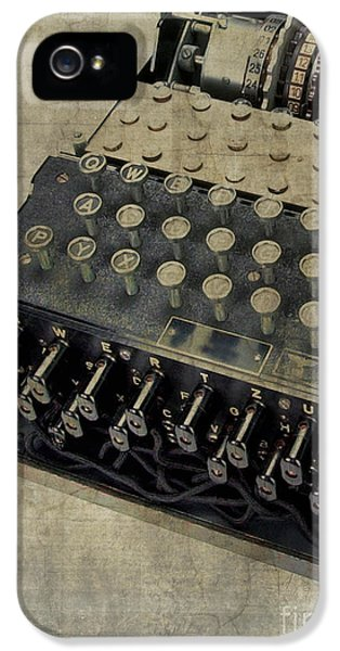 Equipment iPhone 5 Cases - World War II Enigma Secret Code Machine iPhone 5 Case by Edward Fielding
