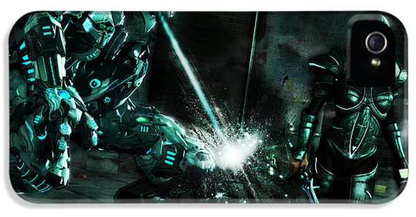 Mech iPhone 5 Cases - Wrath of the ArchAngels iPhone 5 Case by Tynana Lunsford