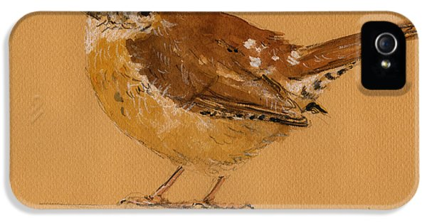 Wren Bird IPhone 5 / 5s Case by Juan  Bosco