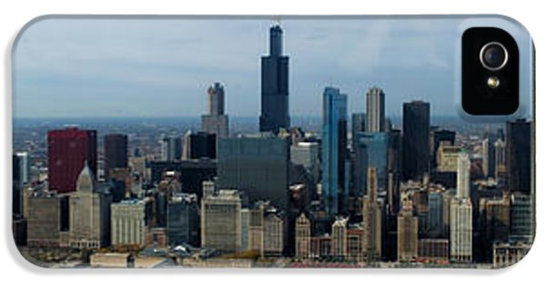 Central Il iPhone 5 Cases - Wrigley and US Cellular Fields Chicago BaseBall Parks 3 Panel Composite 01 iPhone 5 Case by Thomas Woolworth
