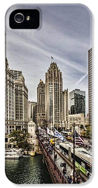 Michgan Avenue iPhone 5 Cases - Wrigley Building and Mag Mile iPhone 5 Case by Sven Brogren