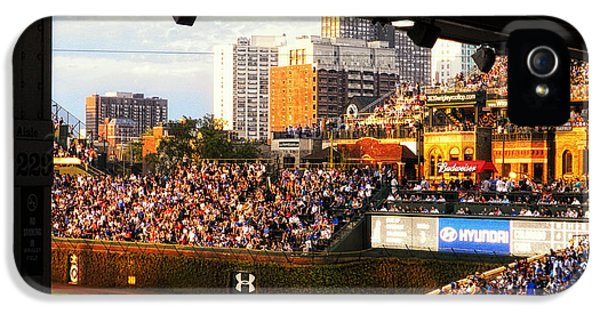 Central Division iPhone 5 Cases - Wrigley Field Aisle 229 iPhone 5 Case by Thomas Woolworth