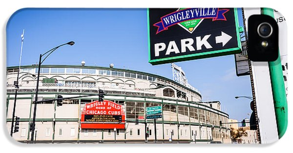 Ballpark iPhone 5 Cases - Wrigleyville Sign and Wrigley Field in Chicago iPhone 5 Case by Paul Velgos