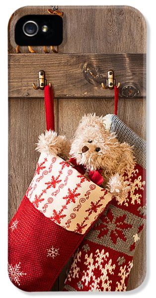 Stockings iPhone 5 Cases - Xmas Stockings iPhone 5 Case by Amanda And Christopher Elwell