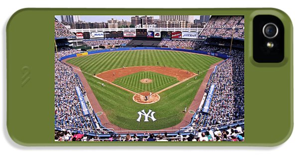 Nyc iPhone 5 Cases - Yankee Stadium iPhone 5 Case by Allen Beatty