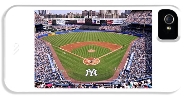 Ballpark iPhone 5 Cases - Yankee Stadium iPhone 5 Case by Allen Beatty