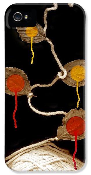Wool iPhone 5 Cases - Yarn Bloom iPhone 5 Case by Johan Lilja