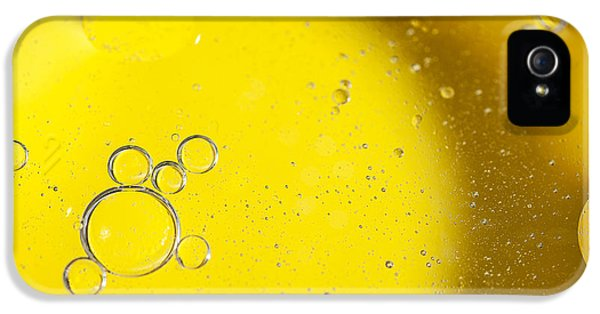 Bubbles iPhone 5 Cases - Yellow Bubbles iPhone 5 Case by Samuel Whitton
