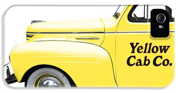 Yellow Taxi iPhone 5 Cases - Yellow Cab Square iPhone 5 Case by Edward Fielding