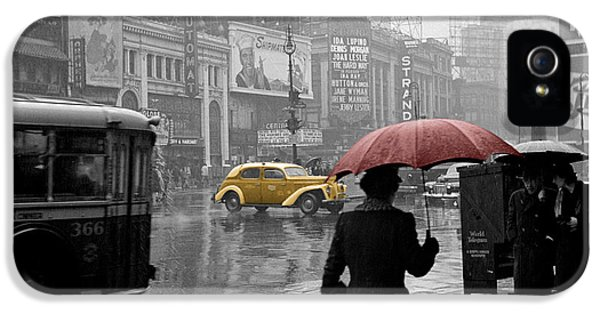 Times Square iPhone 5 Cases - Yellow Cabs New York 2 iPhone 5 Case by Andrew Fare