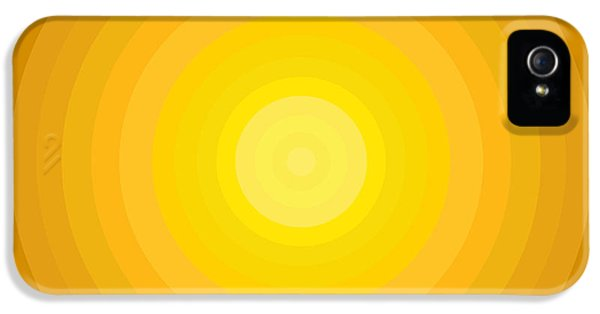 Disc iPhone 5 Cases - Yellow Circles iPhone 5 Case by Frank Tschakert