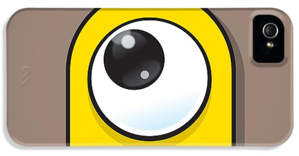 Eyeball iPhone 5 Cases - Yellow iPhone 5 Case by Samuel Whitton