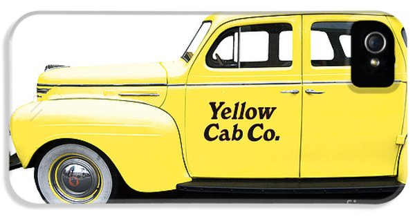Yellow Taxi iPhone 5 Cases - Yellow Taxi Cab iPhone 5 Case by Edward Fielding