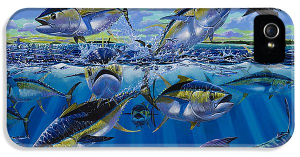 Feeding iPhone 5 Cases - Yellowfin run Off002 iPhone 5 Case by Carey Chen