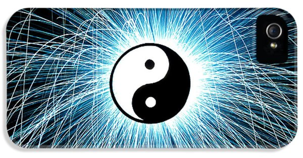 Sparking iPhone 5 Cases - Yin Yang iPhone 5 Case by Tim Gainey