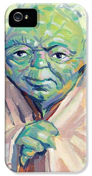 Yoda iPhone 5 Cases - Yoda iPhone 5 Case by Kimberly Santini