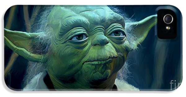 Yoda iPhone 5 Cases - Yoda iPhone 5 Case by Paul Tagliamonte