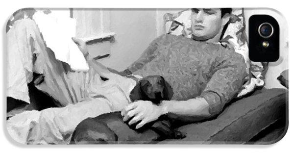 James Gandolfini iPhone 5 Cases - Young Marlon Brando iPhone 5 Case by Michael Braham