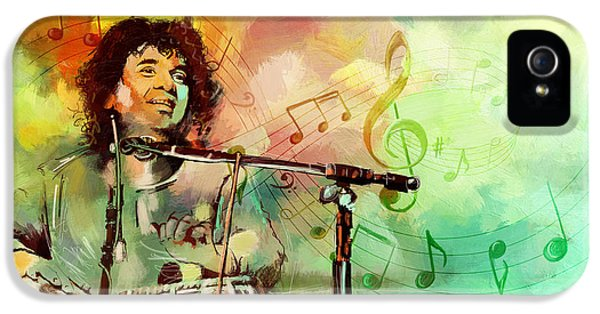 Mohammad iPhone 5 Cases - Zakir Hussain iPhone 5 Case by Catf