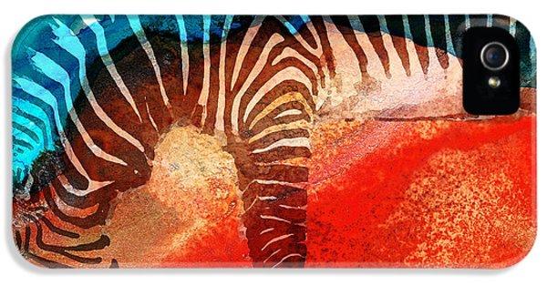 Zoo iPhone 5 Cases - Zebra Love - Art By Sharon Cummings iPhone 5 Case by Sharon Cummings