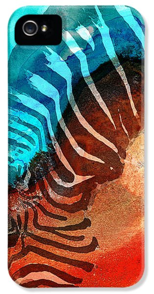 Zebra Love - Art By Sharon Cummings IPhone 5 / 5s Case by Sharon Cummings