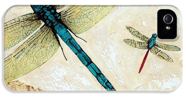 Bug iPhone 5 Cases - Zen Flight - Dragonfly Art By Sharon Cummings iPhone 5 Case by Sharon Cummings