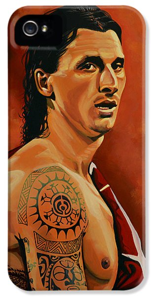 Zlatan Ibrahimovic Painting IPhone 5 / 5s Case by Paul Meijering