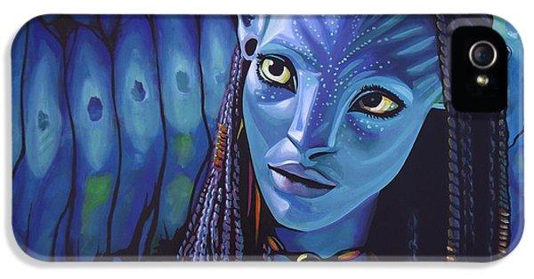 Spotlight iPhone 5 Cases - Zoe Saldana in Avatar iPhone 5 Case by Paul  Meijering