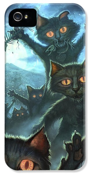 Glowing iPhone 5 Cases - Zombie Cats iPhone 5 Case by Jeff Haynie