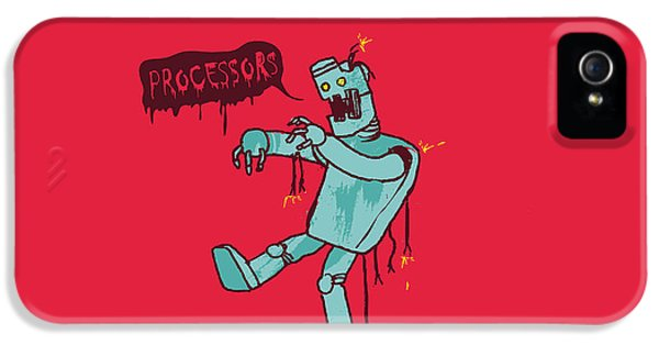 Robot iPhone 5 Cases - Zombie Robot iPhone 5 Case by Budi Satria Kwan