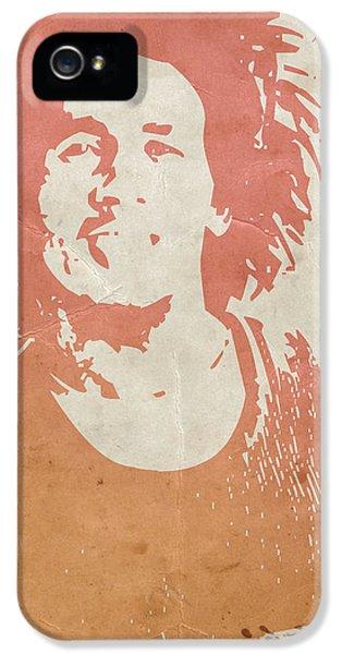 Bob Marley iPhone 5 Cases -  Bob Marley Brown iPhone 5 Case by Naxart Studio