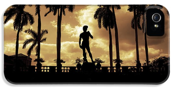 Statue Photographs iPhone 5 Cases -  Replica of the Michelangelo statue at Ringling Museum Sarasota Florida iPhone 5 Case by Mal Bray