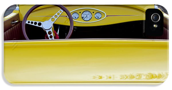 1929 Roadster iPhone 5 Cases - 1929 Ford Model A Roadster iPhone 5 Case by Jill Reger