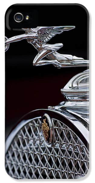 1931 Roadster iPhone 5 Cases - 1931 Packard Deluxe Eight Roadster Hood Ornament iPhone 5 Case by Jill Reger