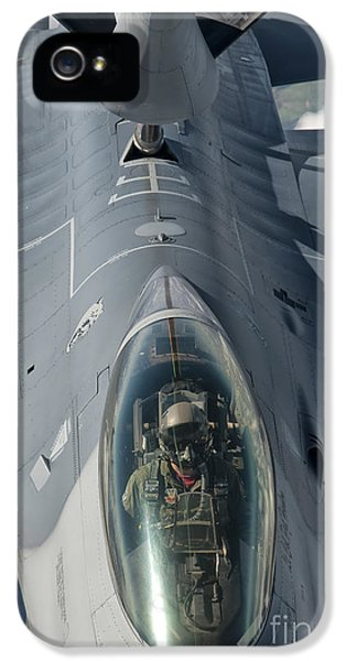 Air Force One iPhone 5 Cases - A U.s. Air Force F-16c Fighting Falcon iPhone 5 Case by Giovanni Colla