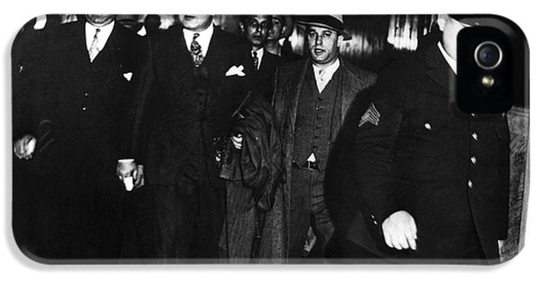 Scarface iPhone 5 Cases - Alphonse Capone (1899-1947) iPhone 5 Case by Granger