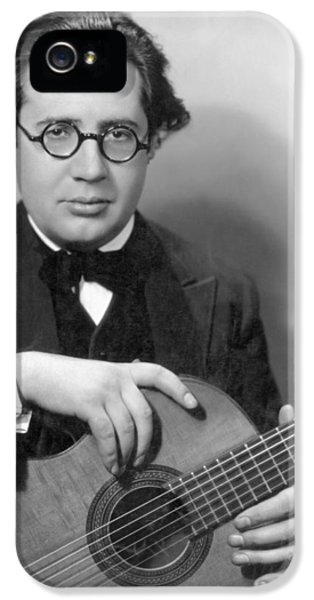 Composer iPhone 5 Cases - Andres Segovia iPhone 5 Case by Granger