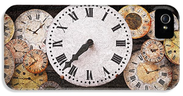 Clock iPhone 5 Cases - Antique clocks iPhone 5 Case by Elena Elisseeva