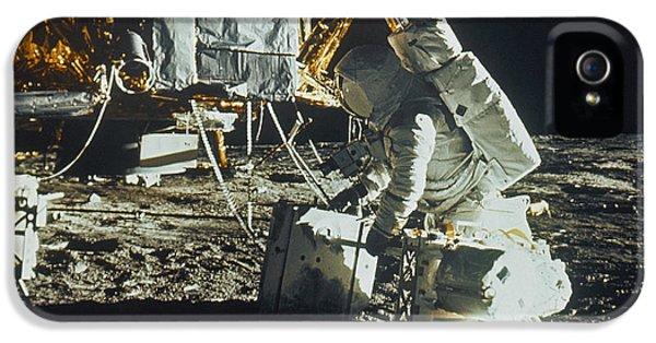 Anti-gravity iPhone 5 Cases - Apollo 12: Astronaut iPhone 5 Case by Granger