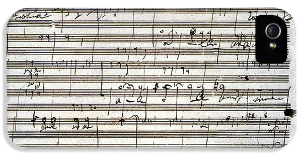 Composer iPhone 5 Cases - Beethoven Manuscript iPhone 5 Case by Granger