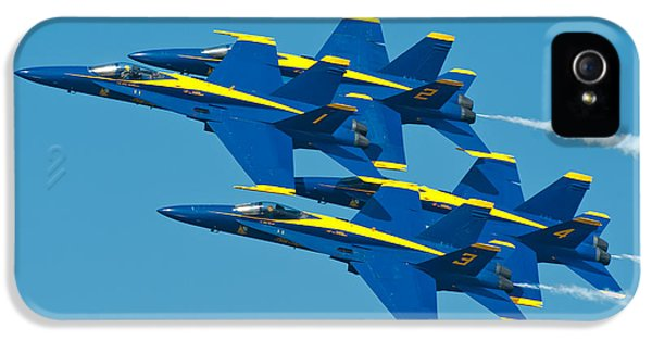 Speed iPhone 5 Cases - Blue Angels iPhone 5 Case by Sebastian Musial