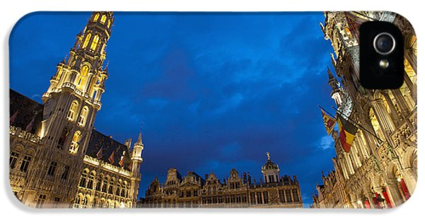 Colour Image iPhone 5 Cases - Brussels, Belgium iPhone 5 Case by Axiom Photographic